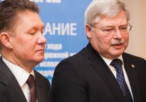 Сергей Жвачкин и Алексей Миллер подписали новую «дорожную карту»