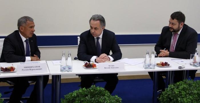 На полях Гайдаровского форума прошло совещание вице-премьера Правительства РФ Виталия Мутко с губернаторами – членами АИРР.