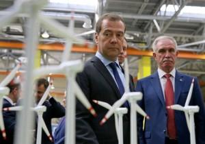 Дмитрий Медведев поддержал инициативу Ульяновской области об увеличении мощностей первого в стране ветропарка