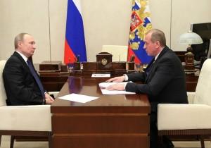 Владимир Путин провёл рабочую встречу с губернатором Иркутской области Сергеем Левченко