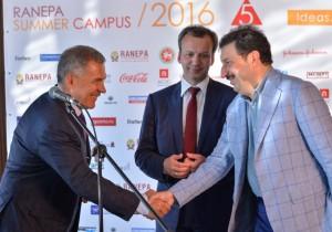 Рустам Минниханов и Аркадий Дворкович открыли «Летний кампус»в Иннополисе
