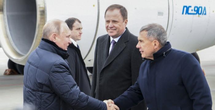Президент России Владимир Путин провел заседание президиума Госсовета в Татарстане и встретился с Президентом Республики Татарстан Рустамом Миннихановым