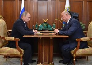 Владимир Путин встретился с губернатором Самарской области Николаем Меркушкиным